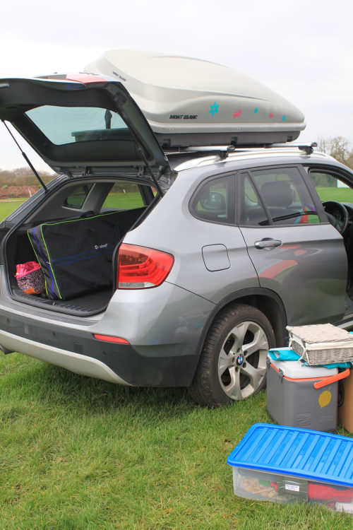 OUtwell Padres XL Bamboo Camp Kitchen packed in the boot of my car