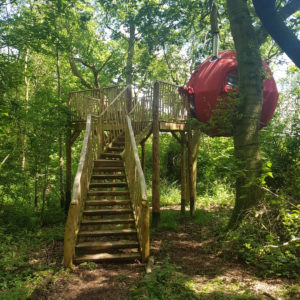 GLAMPING | An Incredible Night Suspended From a Tree at Brook House Woods, Herefordshire